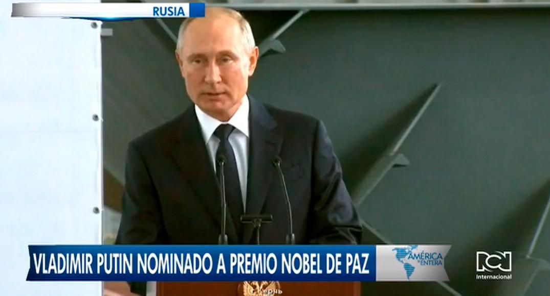 Vladímir Putin, nominado al premio Nobel de la Paz 2021