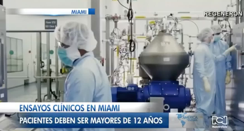 Ensayos clínicos en Miami, probarán cóctel de anticuerpos que le dieron a Trump