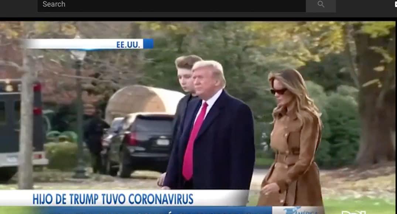 Hijo de Trump tuvo coronavirus, la noticia se había mantenido en secreto