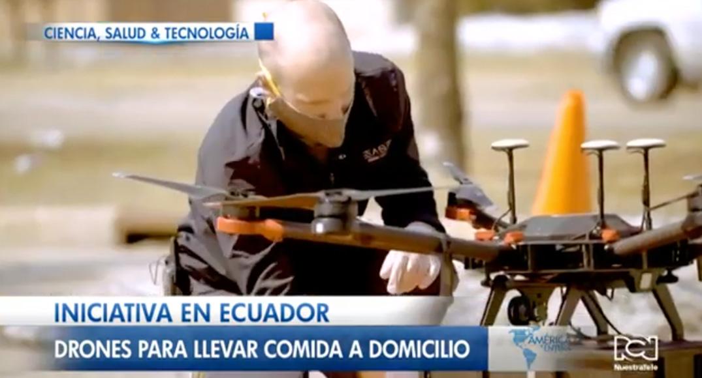 Iniciativa en Ecuador, drones para llevar comida a domicilio