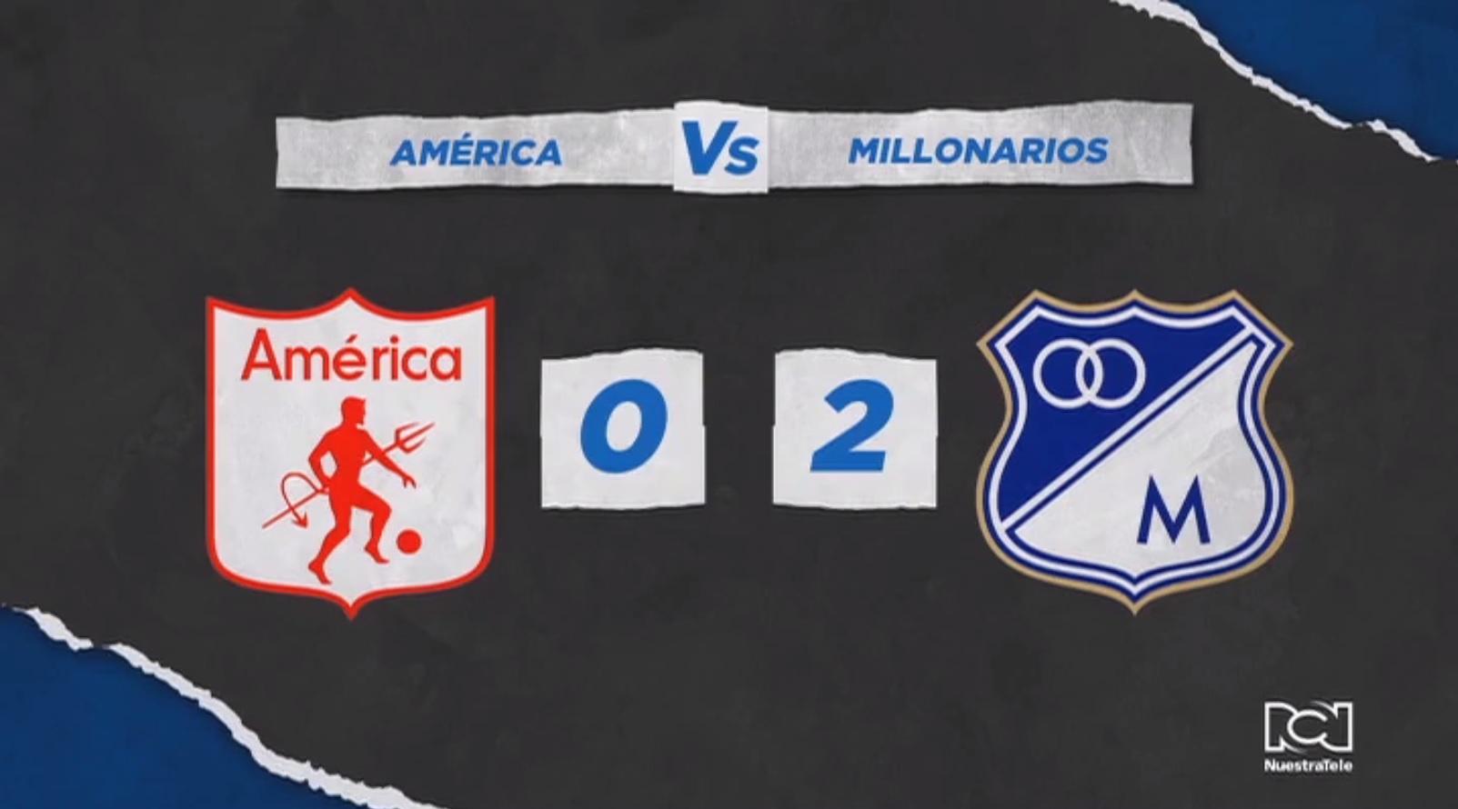 Millonarios derrotó al América en el Pascual y sigue con la ilusión de la clasificación