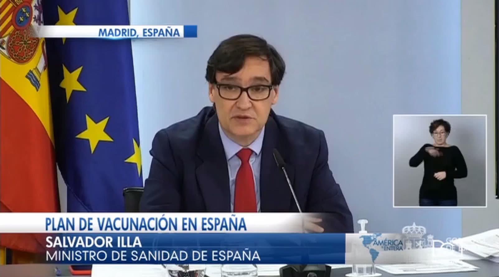 España presenta el plan de vacunación contra el Covid-19