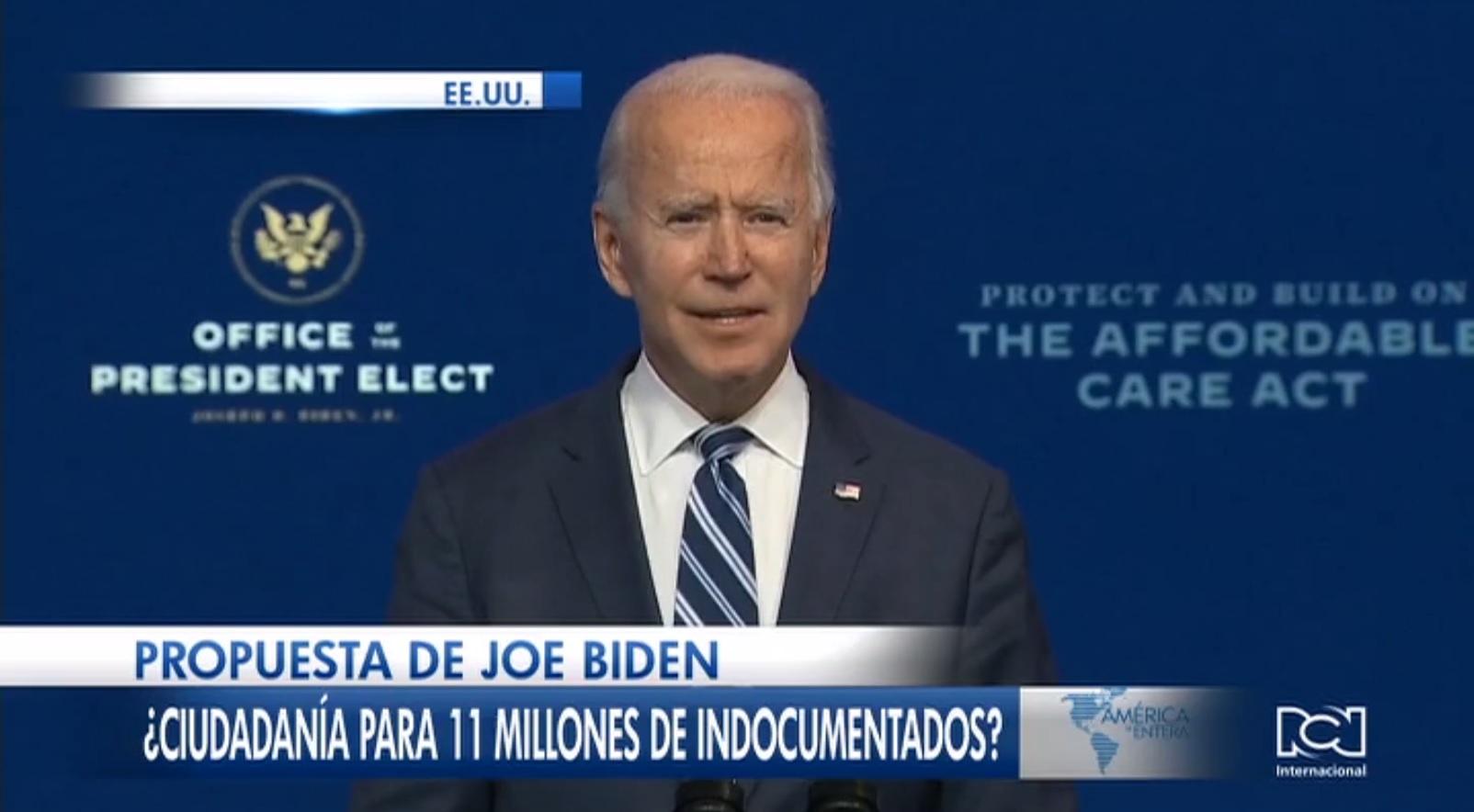 Joe Biden anuncia proyecto de ley para legalizar el estatus migratorio de millones de migrantes indocumentados