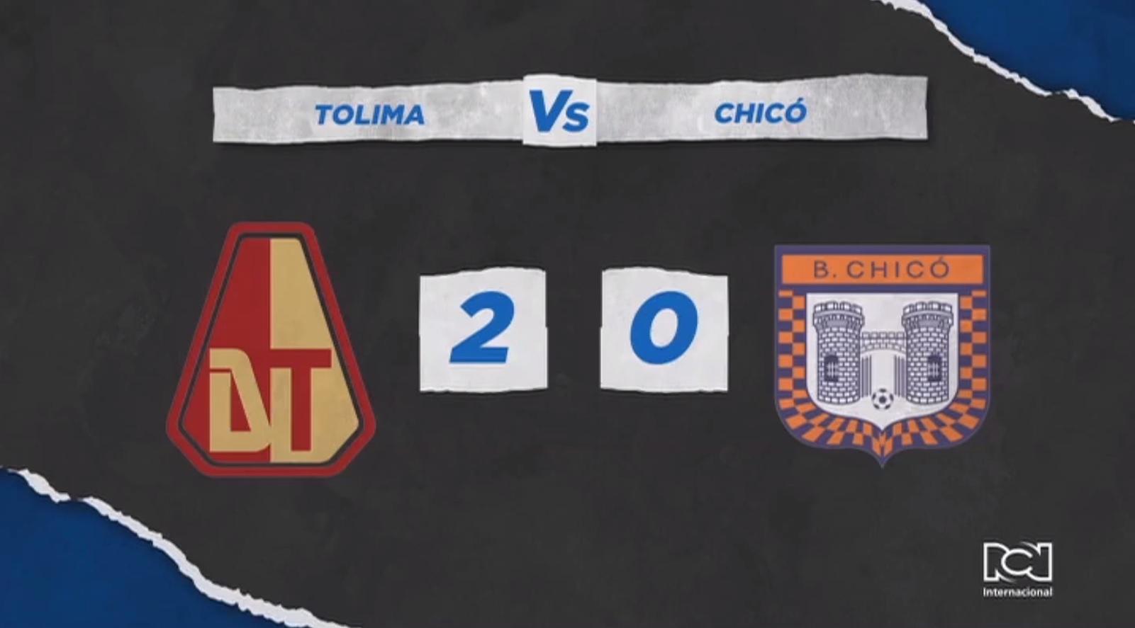 Deportes Tolima derrotó a Boyacá Chicó y sigue sumando puntos en reclasificación