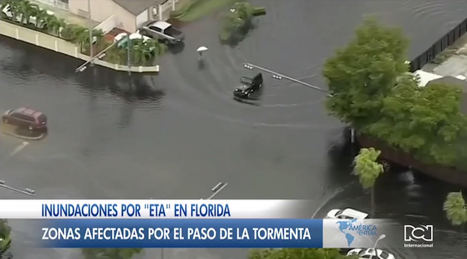 Alerta en Florida por las inundaciones provocadas por el paso de la tormenta Eta
