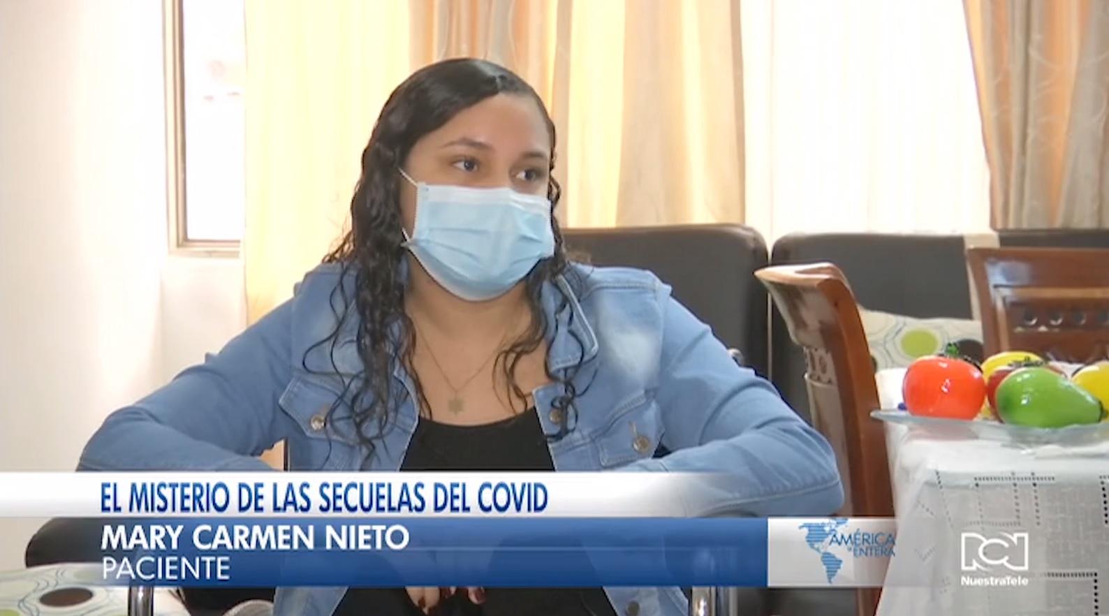 Colombiana que sufre las secuelas del Covid-19 envía un mensaje a los jóvenes del país