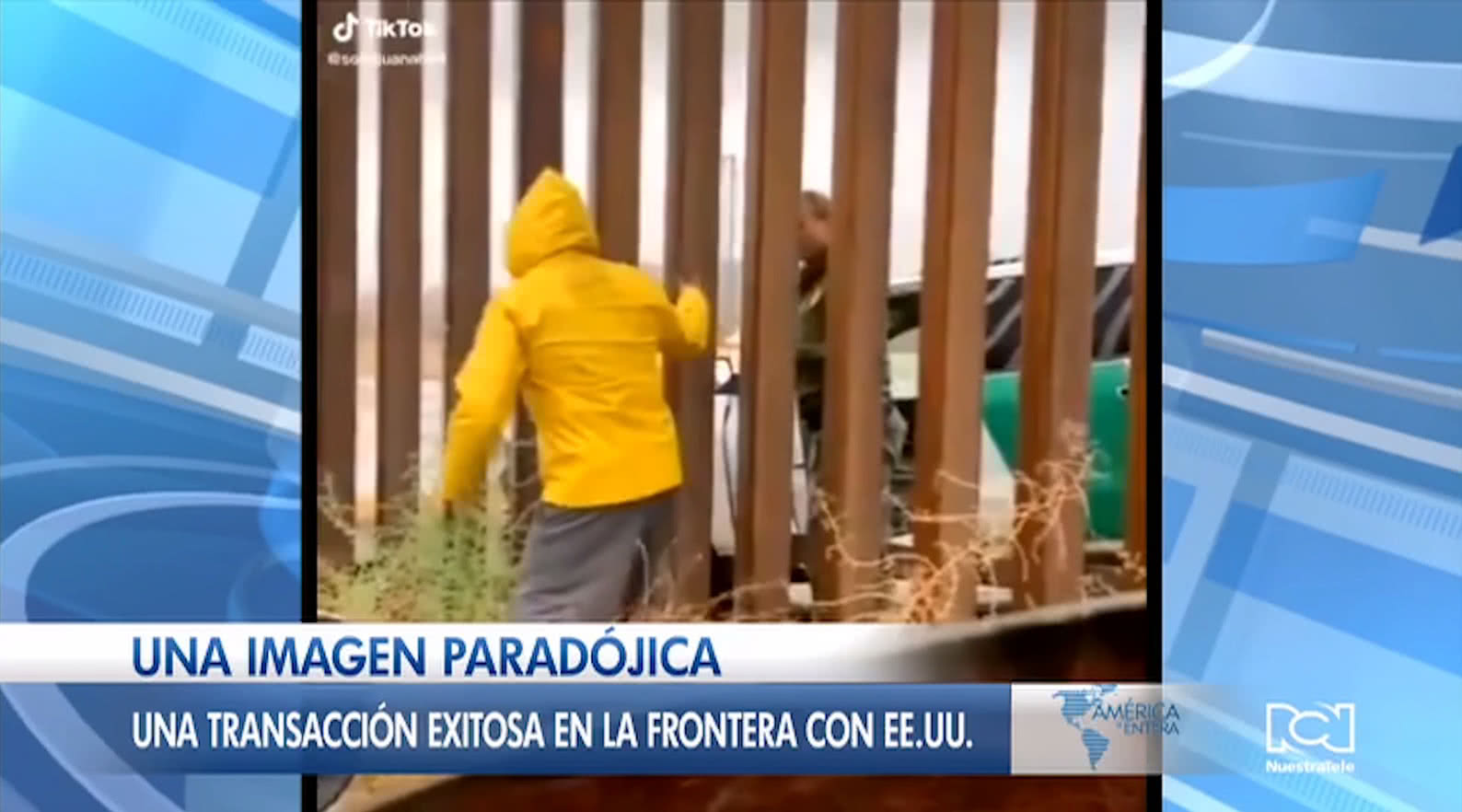 Video de mexicano que le vende un tamal a un agente de Ia Patrulla Fronteriza se vuelve viral en redes sociales