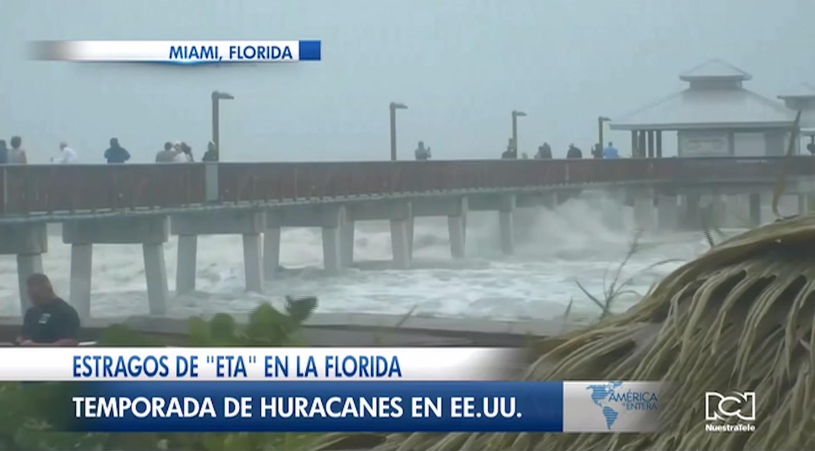 Tormenta Eta toca tierra por cuarta vez en Florida con vientos de 80km/h