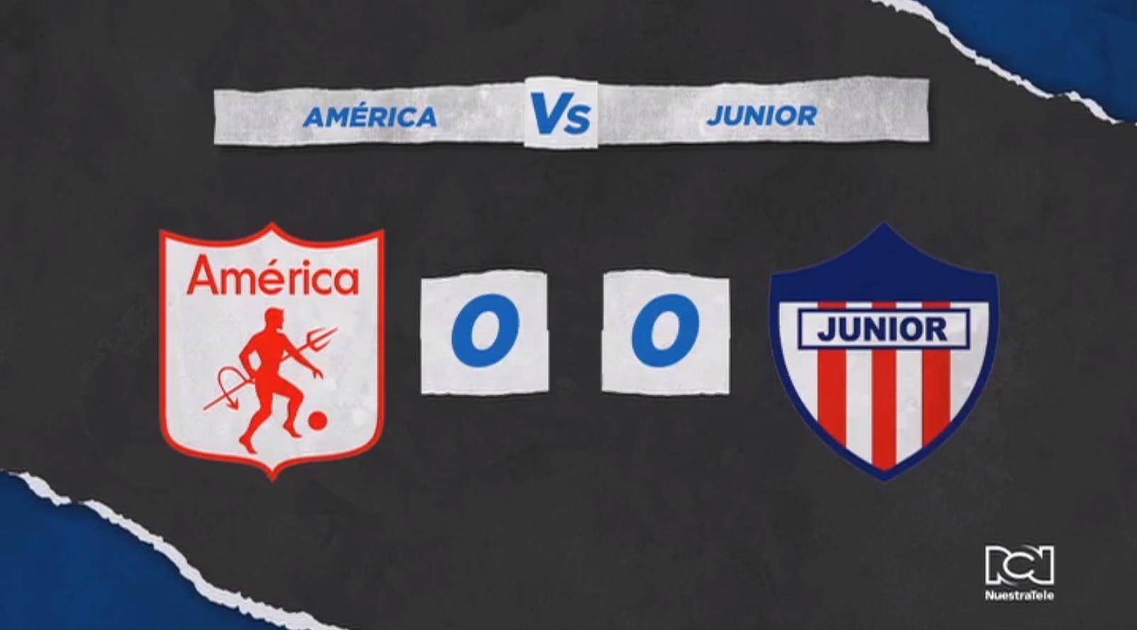 América y Atlético Junior no se sacaron diferencia y definirán al finalista en Barranquilla