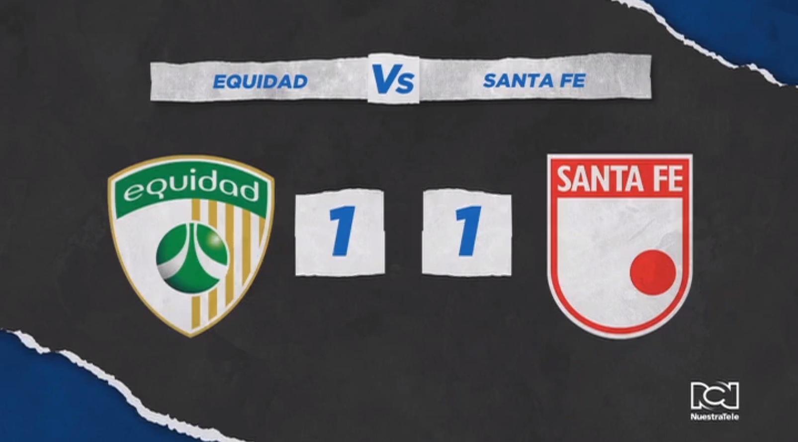 La Equidad y Santa Fe empataron en la ida de las semifinales de la Liga BetPlay 2020