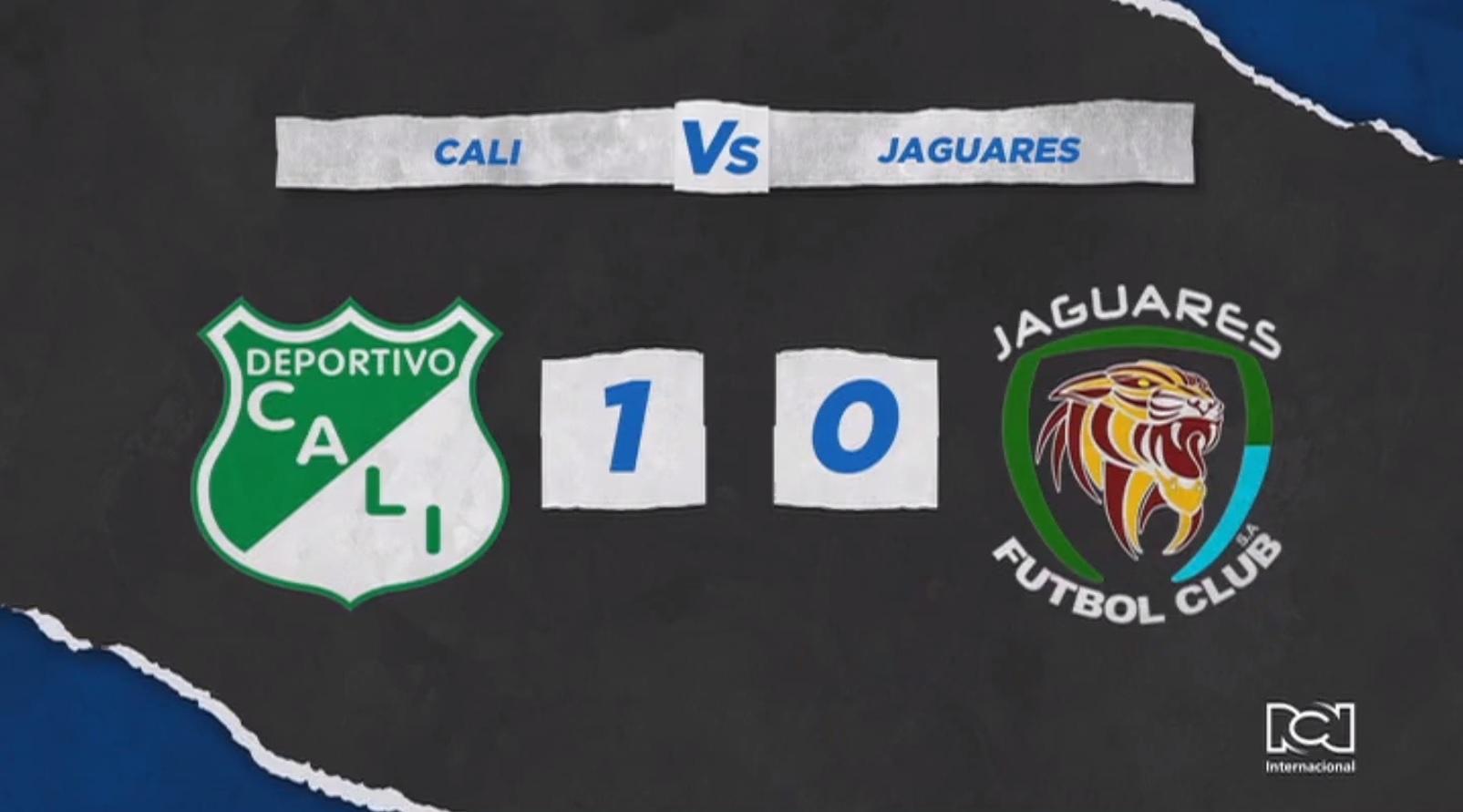 Deportivo Cali venció por la mínima diferencia a Jaguares en el arranque de la Liga BetPlay 2021