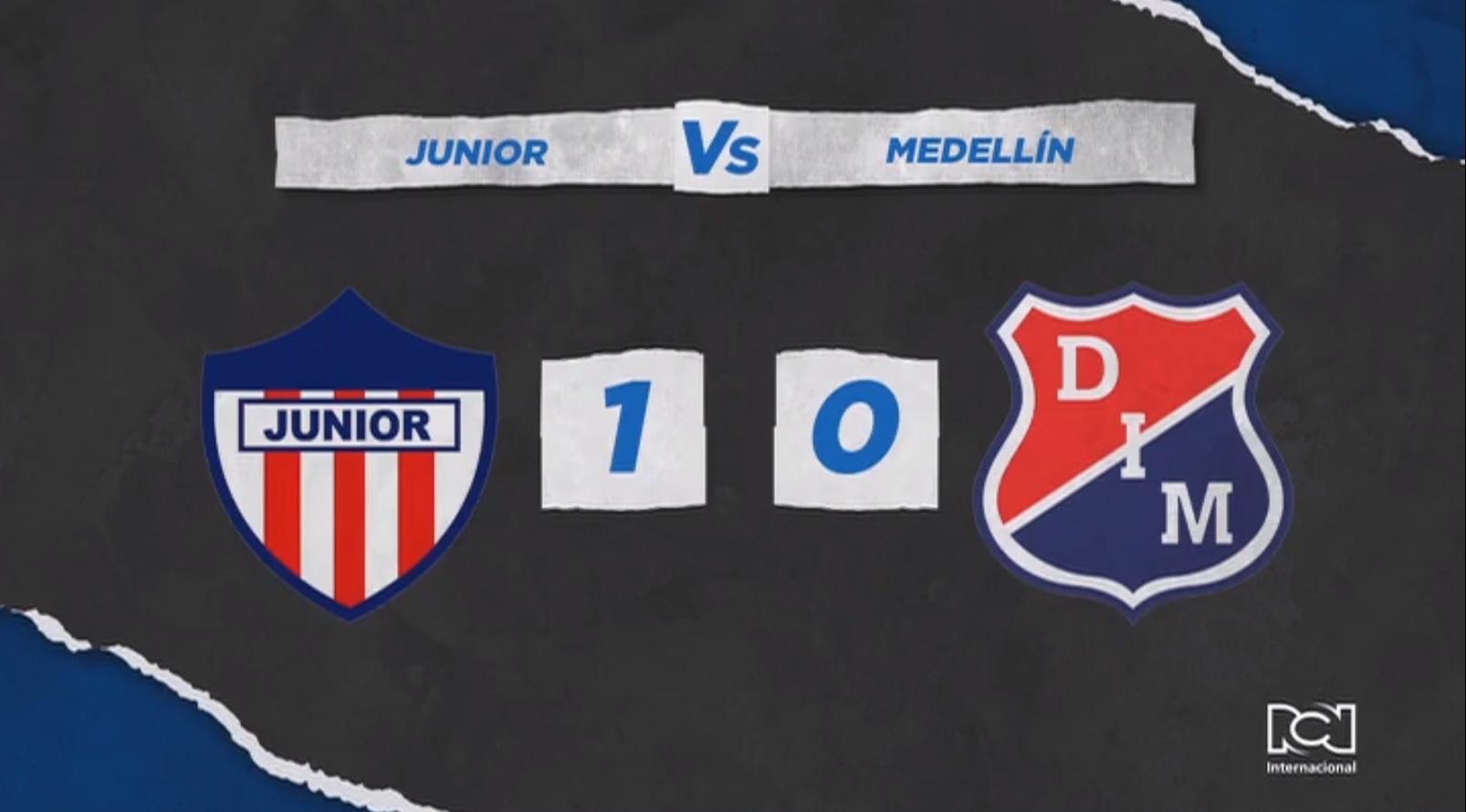 Atlético Junior se sacó la espina y derrotó a Independiente Medellín en la primera fecha de la Liga BetPlay