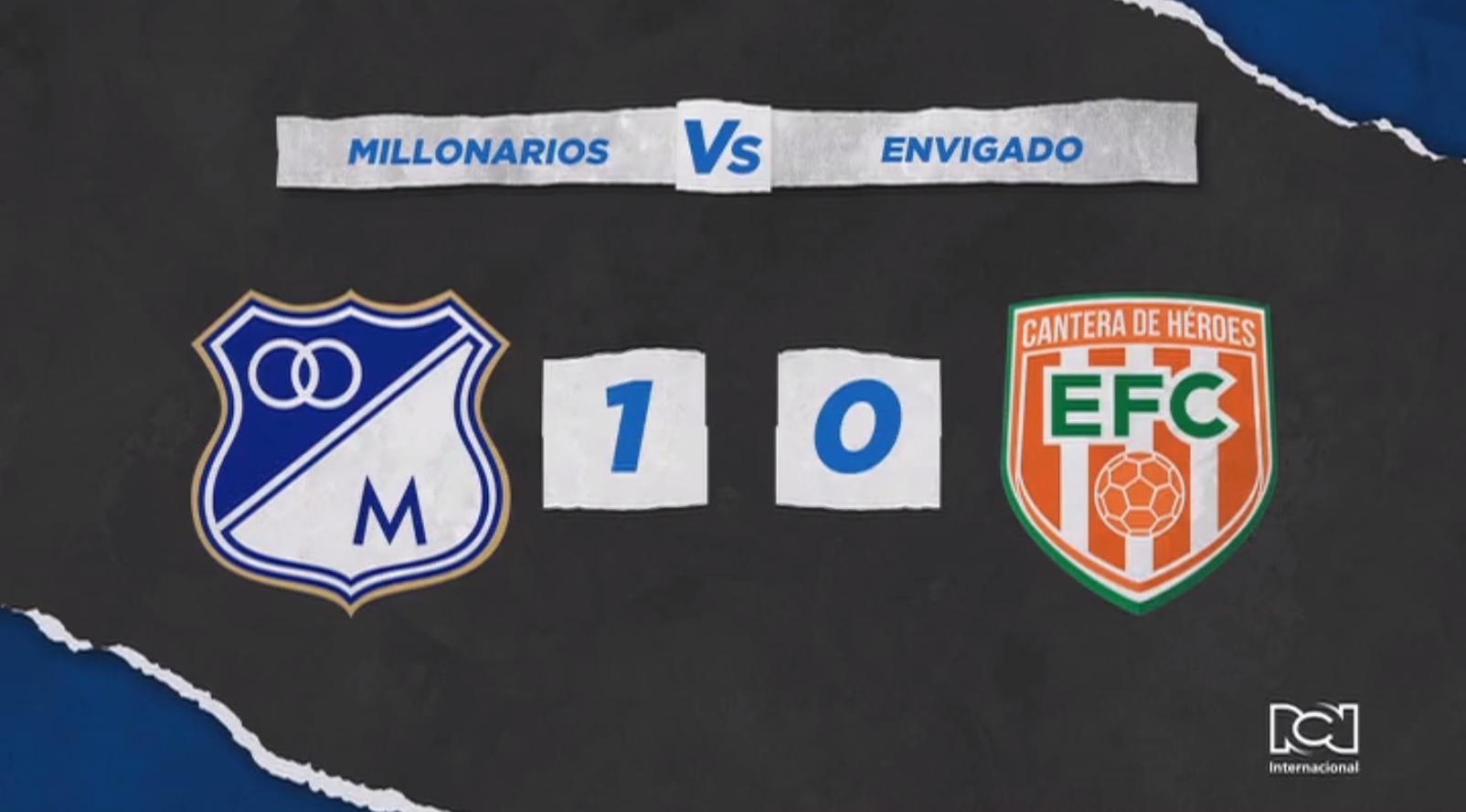 Millonarios se hizo fuerte en Manizales y derrotó a Envigado en el inicio de la Liga BetPlay