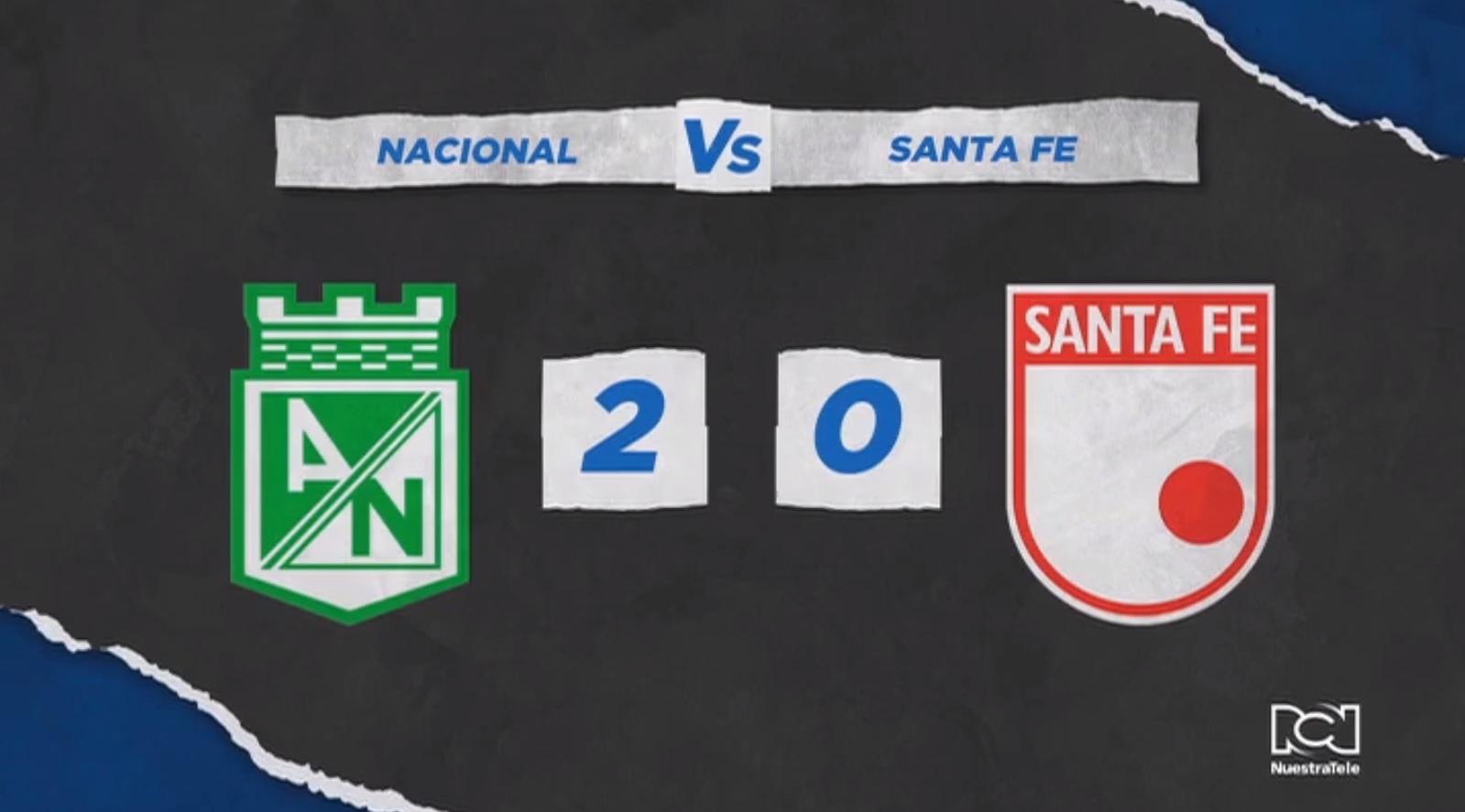 Atlético Nacional comenzó con pie derecho la Liga BetPlay tras vencer a Independiente Santa Fe