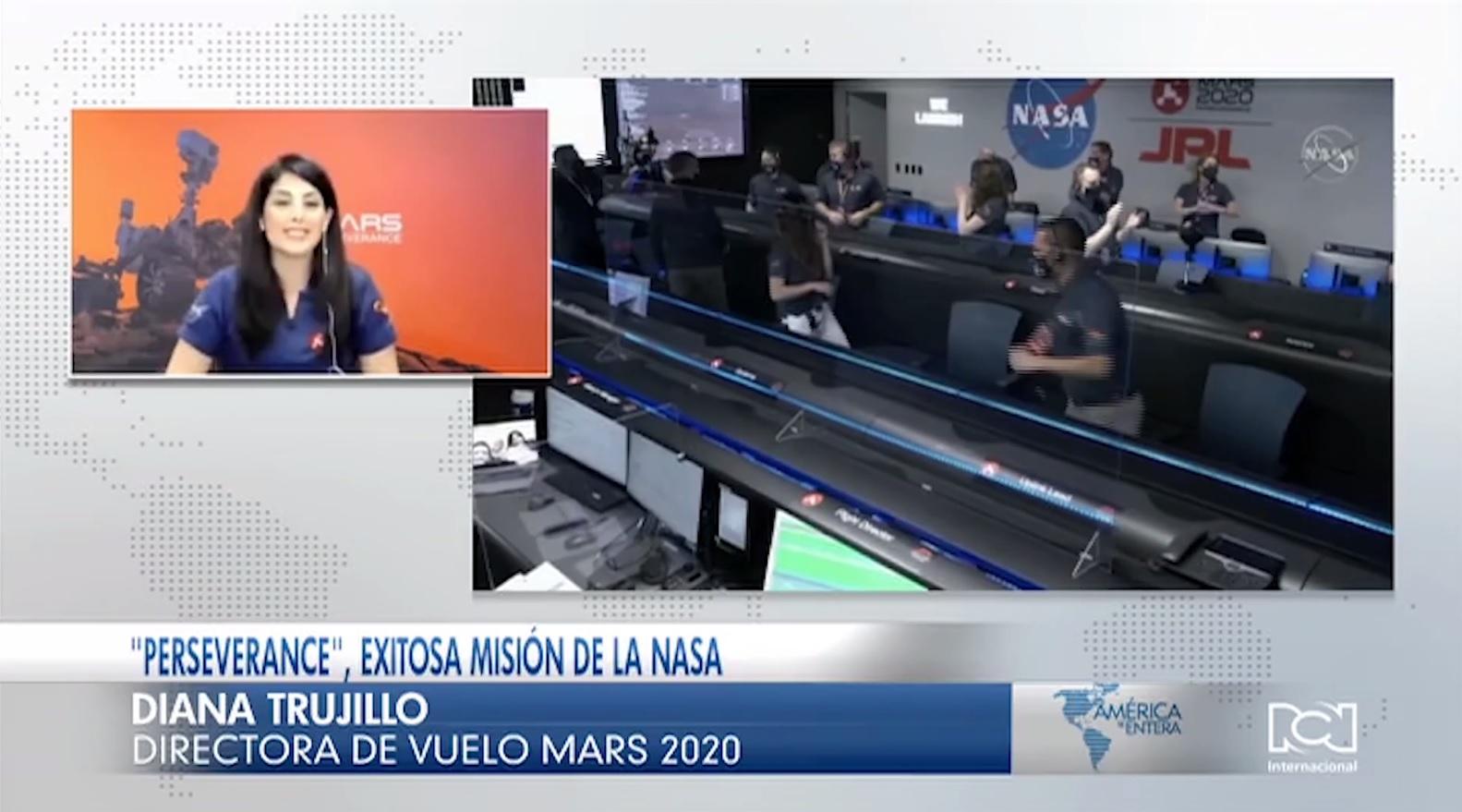 Colombiana Diana Trujillo fue protagonista en el exitoso aterrizaje de la misión Perseverance en Marte