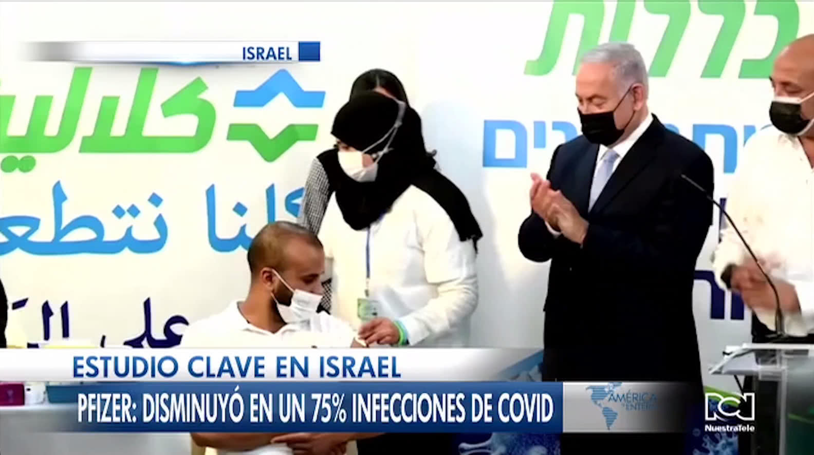 Primera dosis de la vacuna de Pfizer redujo un 75% las infecciones de Covid-19 en Israel