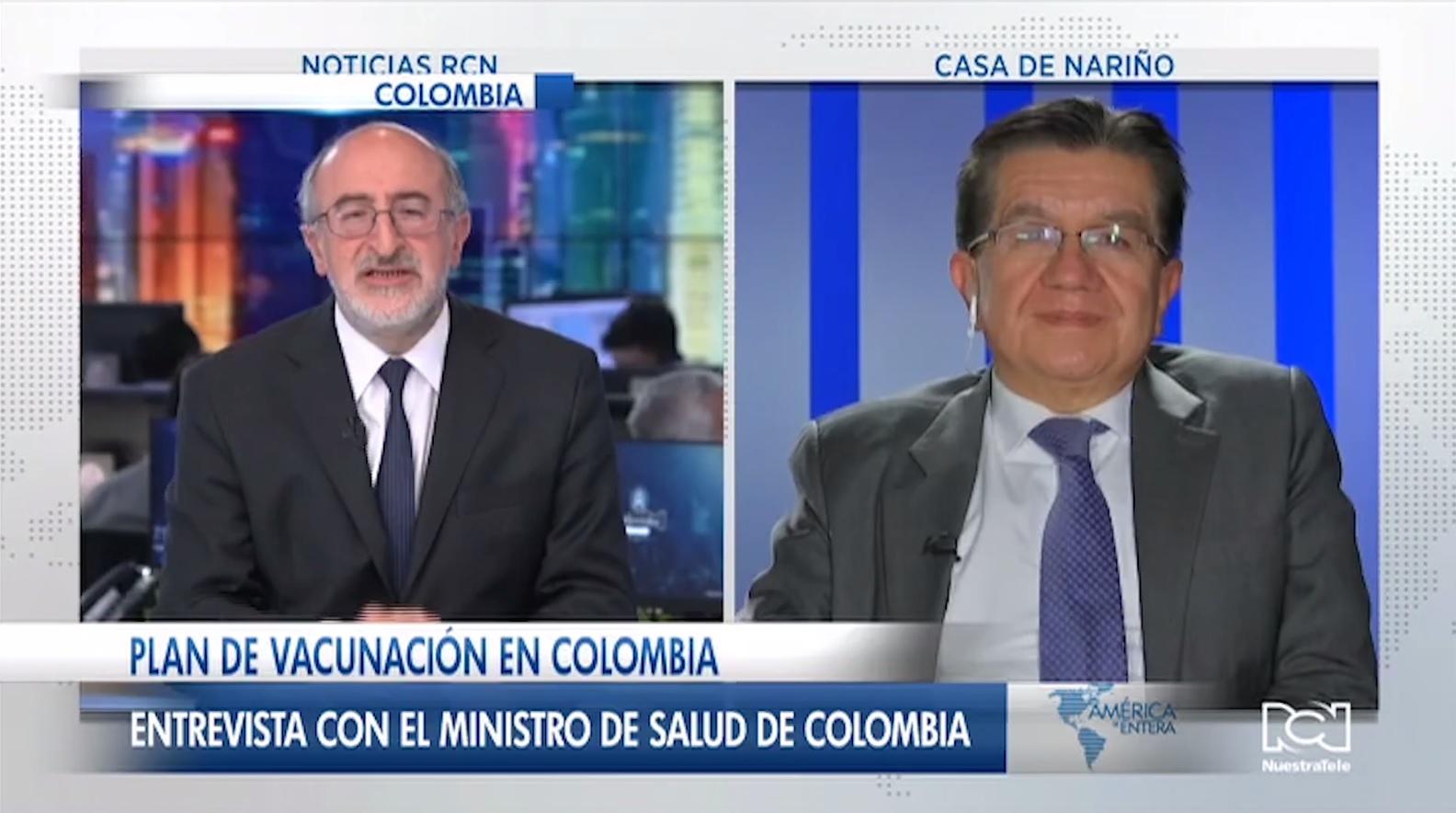 Ministro Fernando Ruiz despeja todas las dudas sobre el Plan Nacional de Vacunación contra el Covid-19 en Colombia