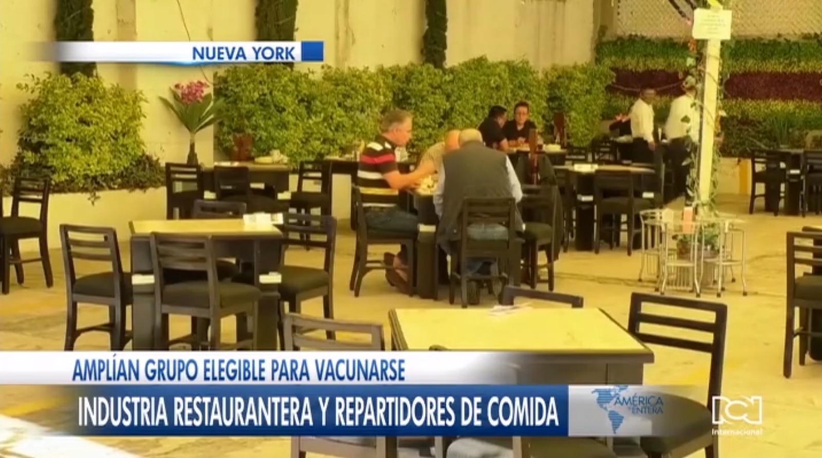 Restauranteros y repartidores de comida reciben autorización para acceder a la vacuna contra el Covid-19 en Nueva York