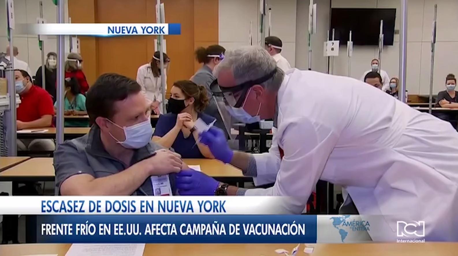 Ola invernal retrasa la llegada de las vacunas contra el Covid-19 a Nueva York