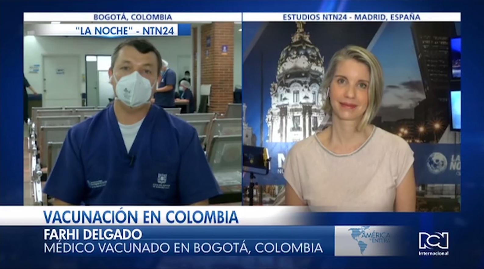 Primeros trabajadores de la salud que recibieron la vacuna contra el Covid-19 en Colombia contaron su experiencia en La Noche de NTN24
