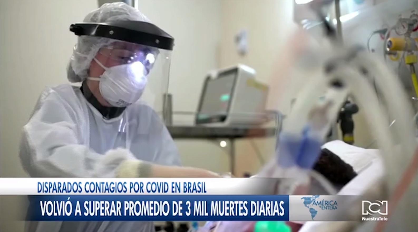 Brasil vuelve a superar el promedio de 3.000 muertes diarias por Covid-19