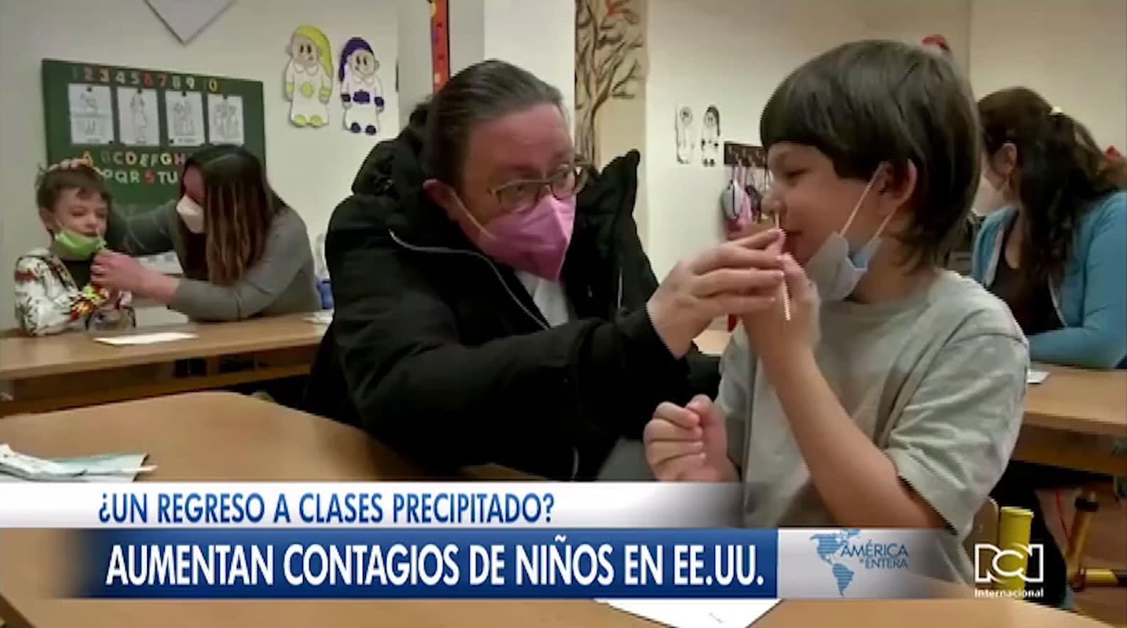 Crece el número de niños contagiados de Covid-19 en Estados Unidos