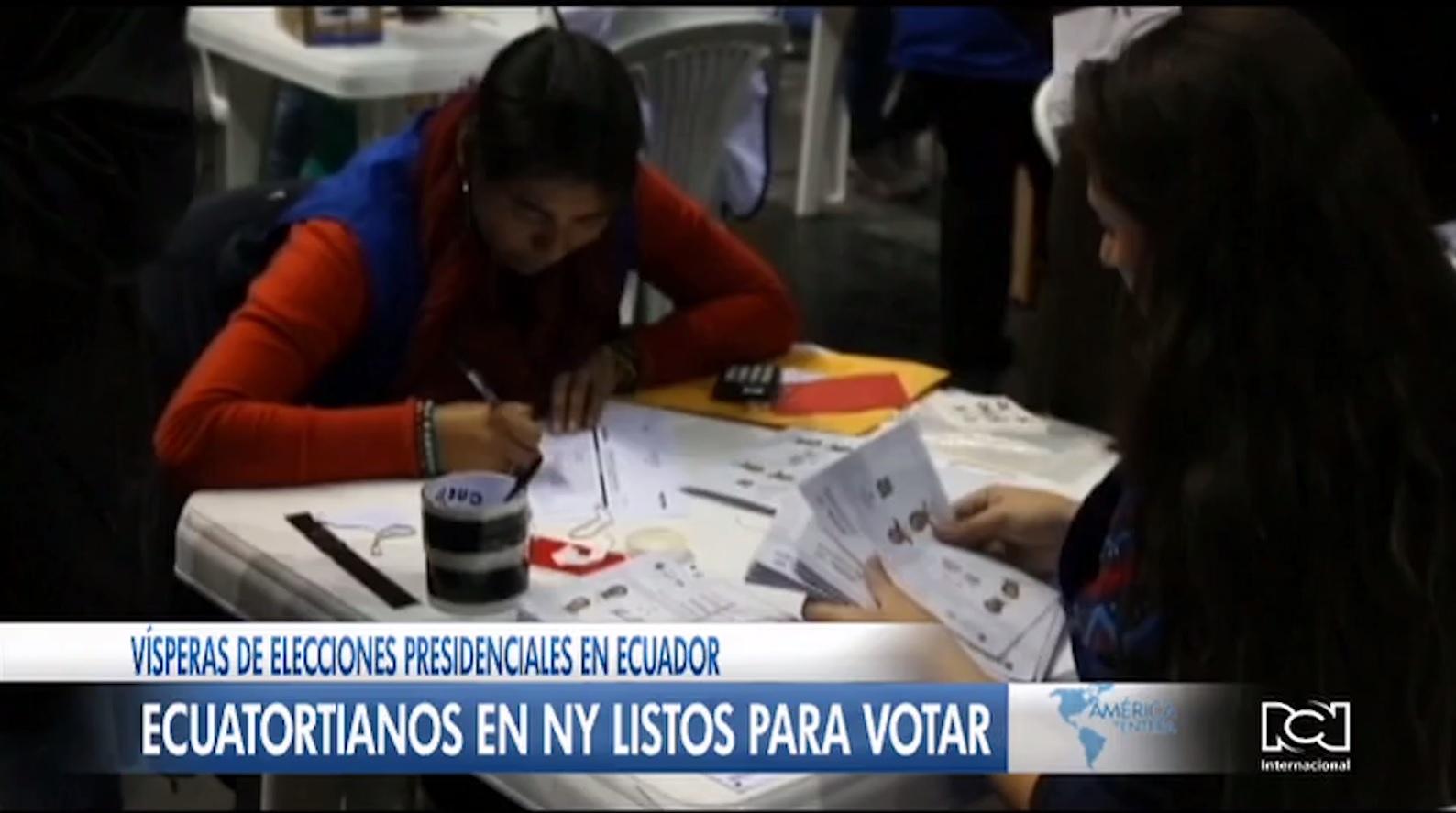 Más de 40.000 ecuatorianos radicados en Nueva York participarán en las elecciones del 11 de abril