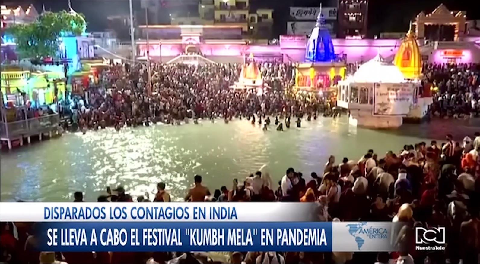 Cifras récord de Covid-19 en India no impidieron la realización del Festival Kumbh Mela