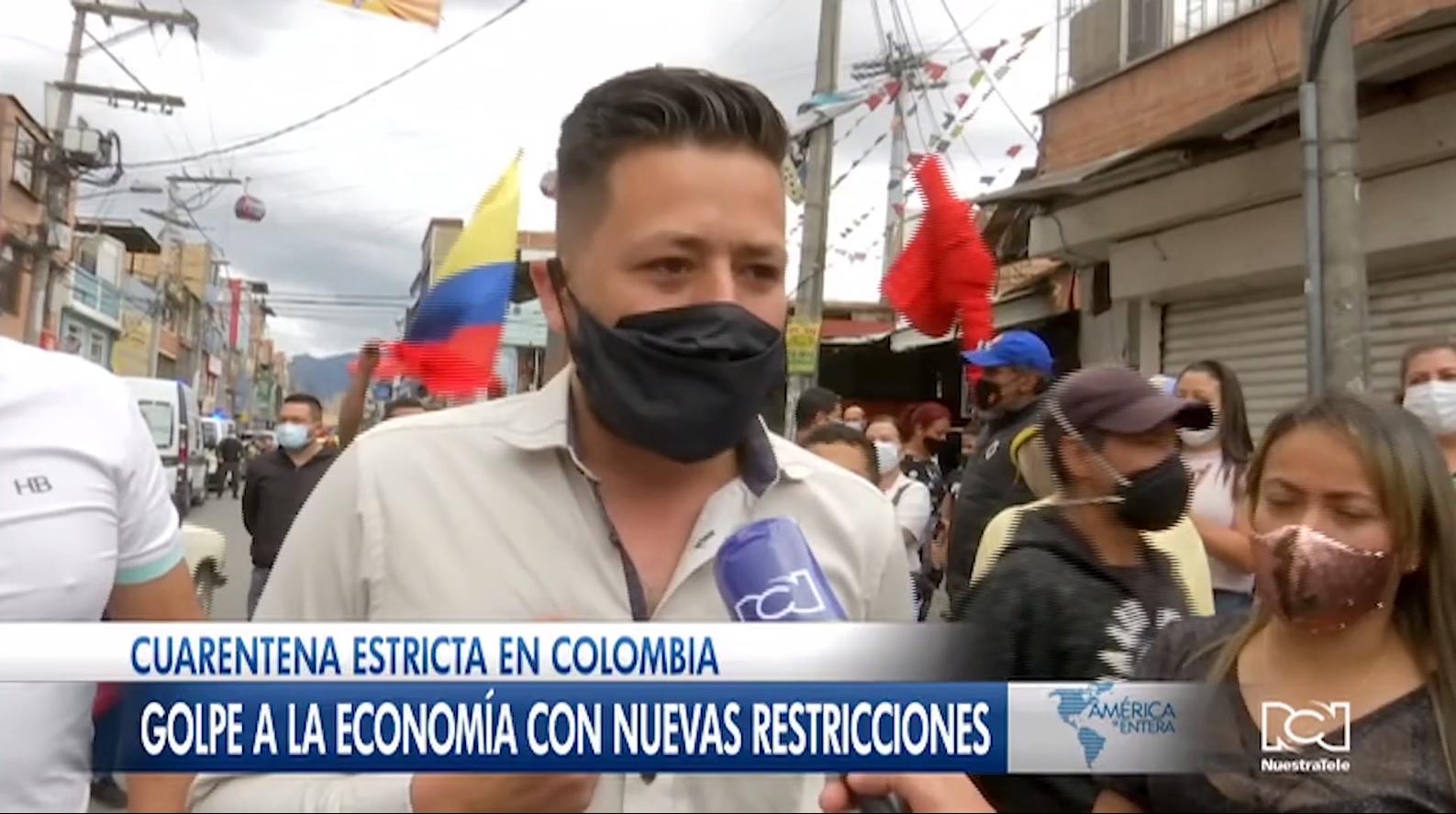 Golpe a la economía con las nuevas restricciones para contener la propagación del Covid-19 en Colombia