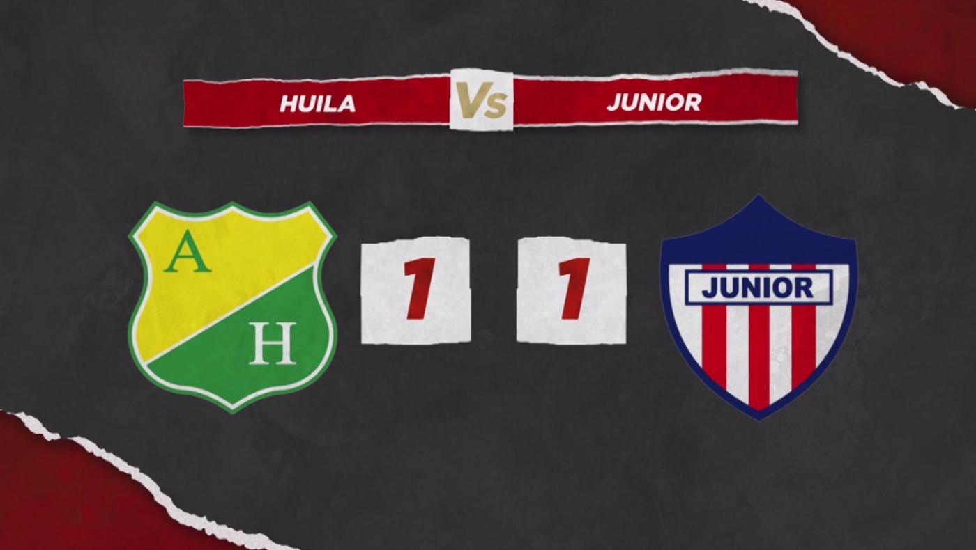 Atlético Junior empató con Atlético Huila y se mantiene fuera del grupo de los ocho