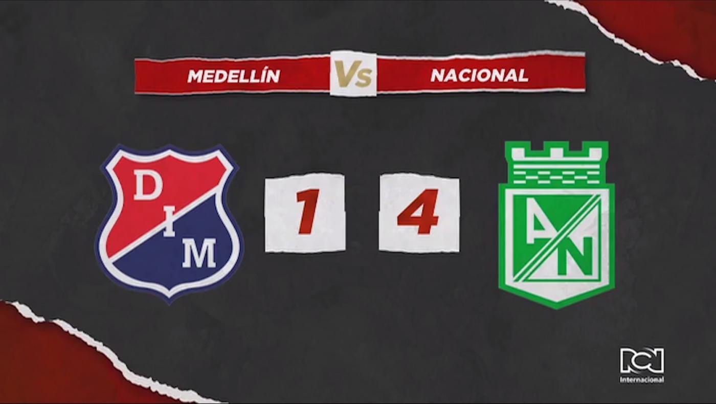 Atlético Nacional volvió a golear al Independiente Medellin en el clásico paisa