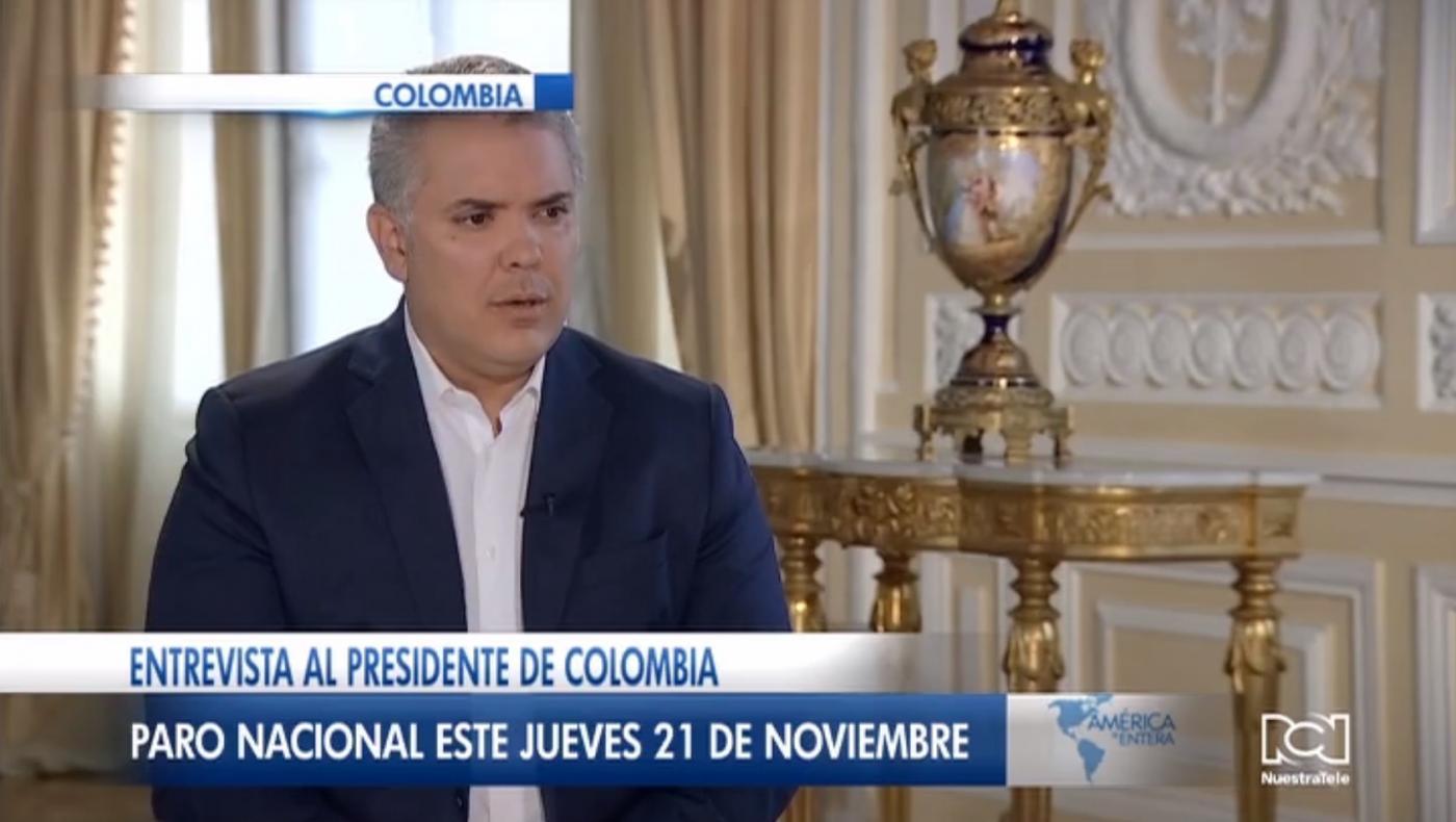Iván Duque evalúa el cierre de fronteras para evitar infiltrados extranjeros durante las marchas del 21 de noviembre