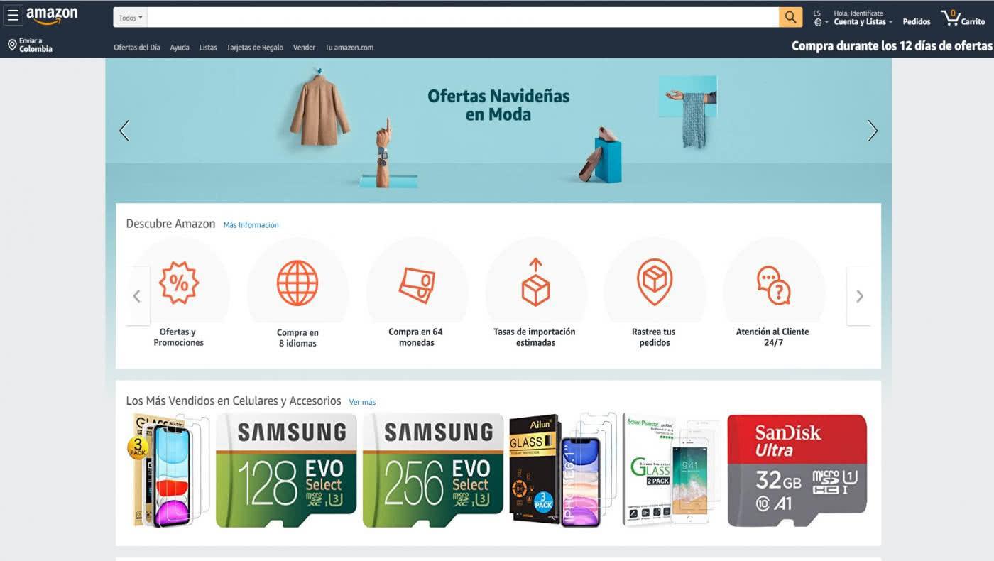 Realiza tus comprar navideñas en línea con Amazon en español