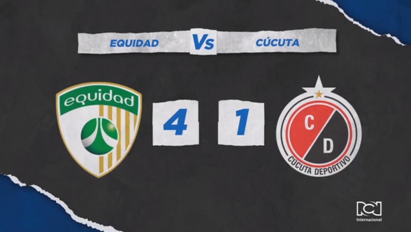 La Equidad venció al Cúcuta Deportivo y sumó su primera victoria en la Liga BetPlay Dimayor