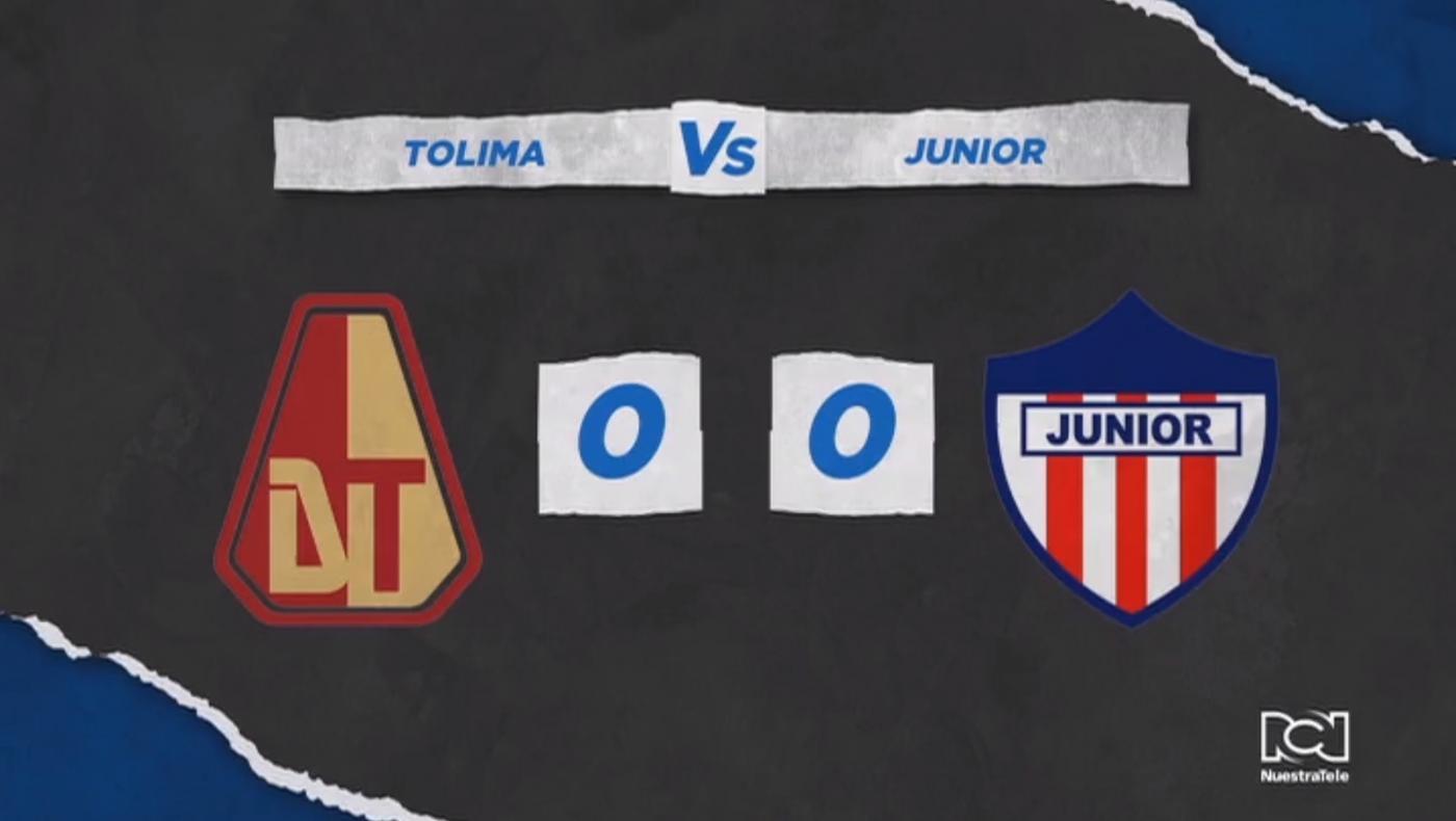 Deportes Tolima y Atlético Junior no se hicieron daño y repartieron puntos en Ibagué