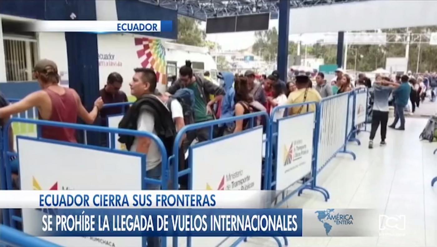 Ecuador cierra sus fronteras y prohíbe la llegada de vuelos internacionales por alerta de coronavirus