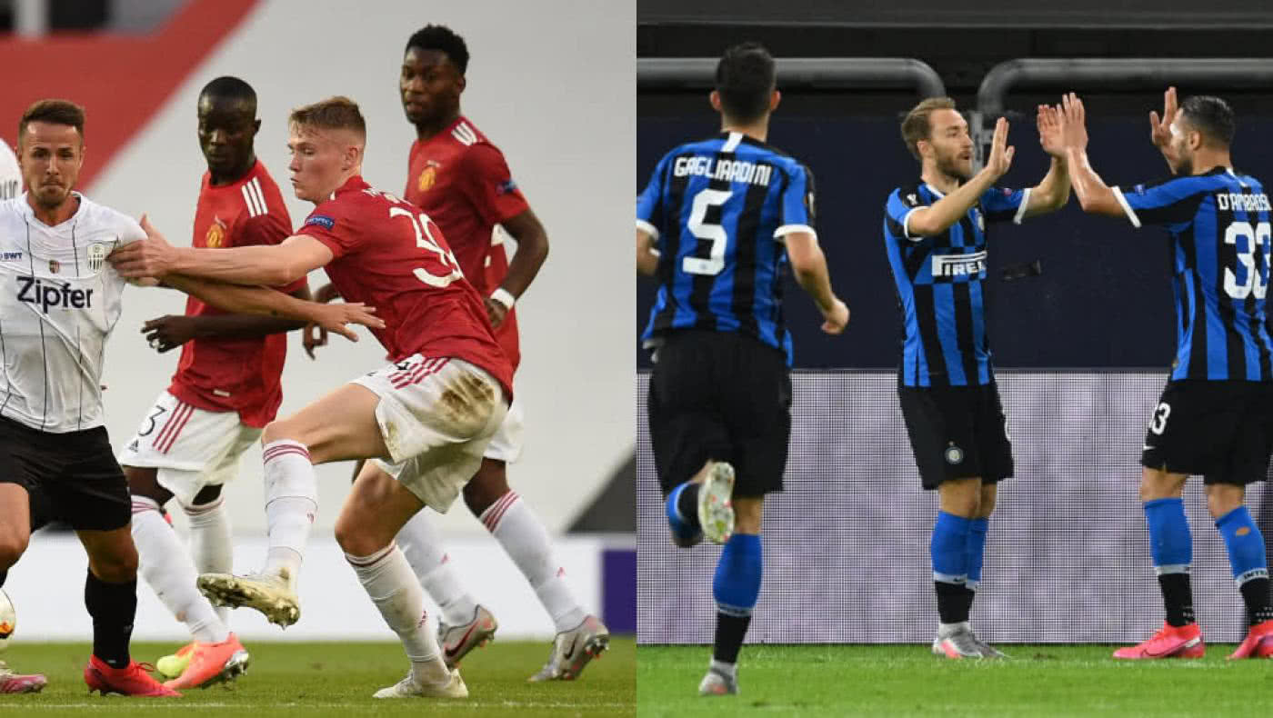 Inter de Milán y Manchester United, clasificados a cuartos de Europa League