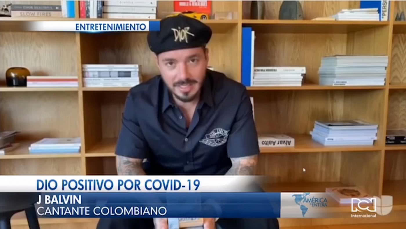 J Balvin confiesa que tiene Covid-19 e invitó a sus seguidores a cuidarse del virus