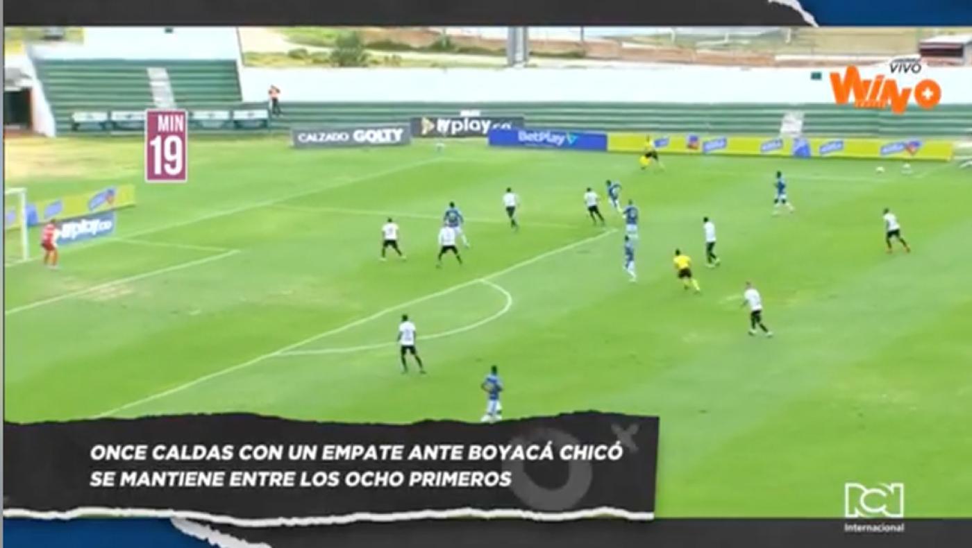 En el juego inaugural de la fecha 15 de la Liga Betplay, Boyacá Chicó y Once Caldas empataron 1-1 en Tunja.