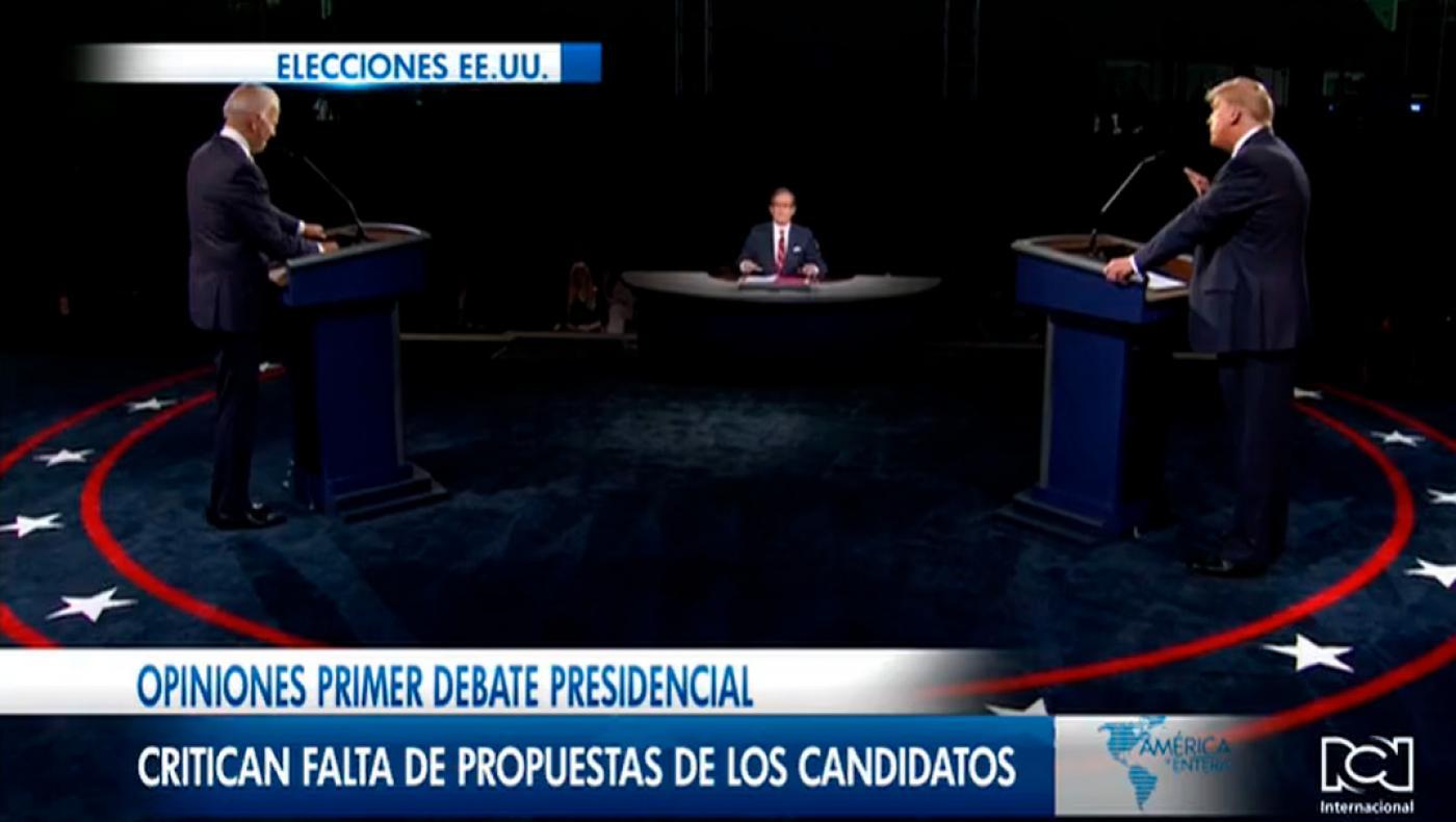 Opiniones primer debate presidencial, critican falta de propuestas de los candidatos