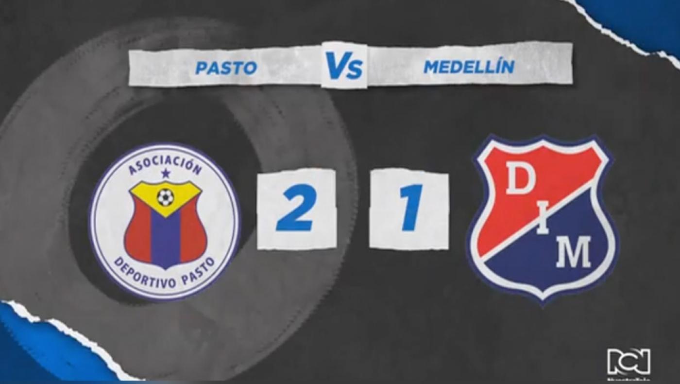 Pasto vence al Medellín y queda a un paso de la clasificación en la Liga BetPlay