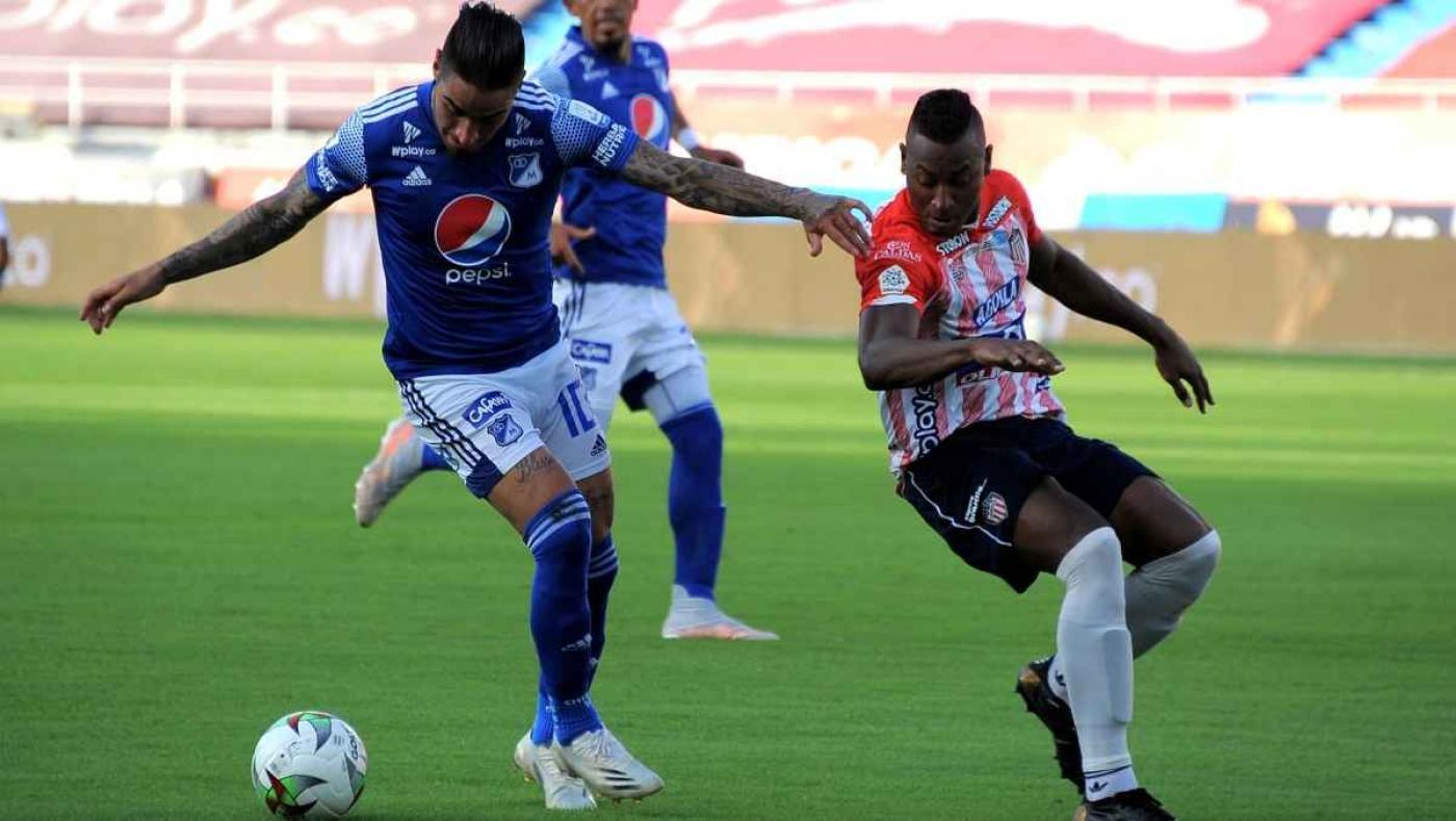 Show de goles: Junior tomó ventaja mínima frente a Millonarios en las 'semis'