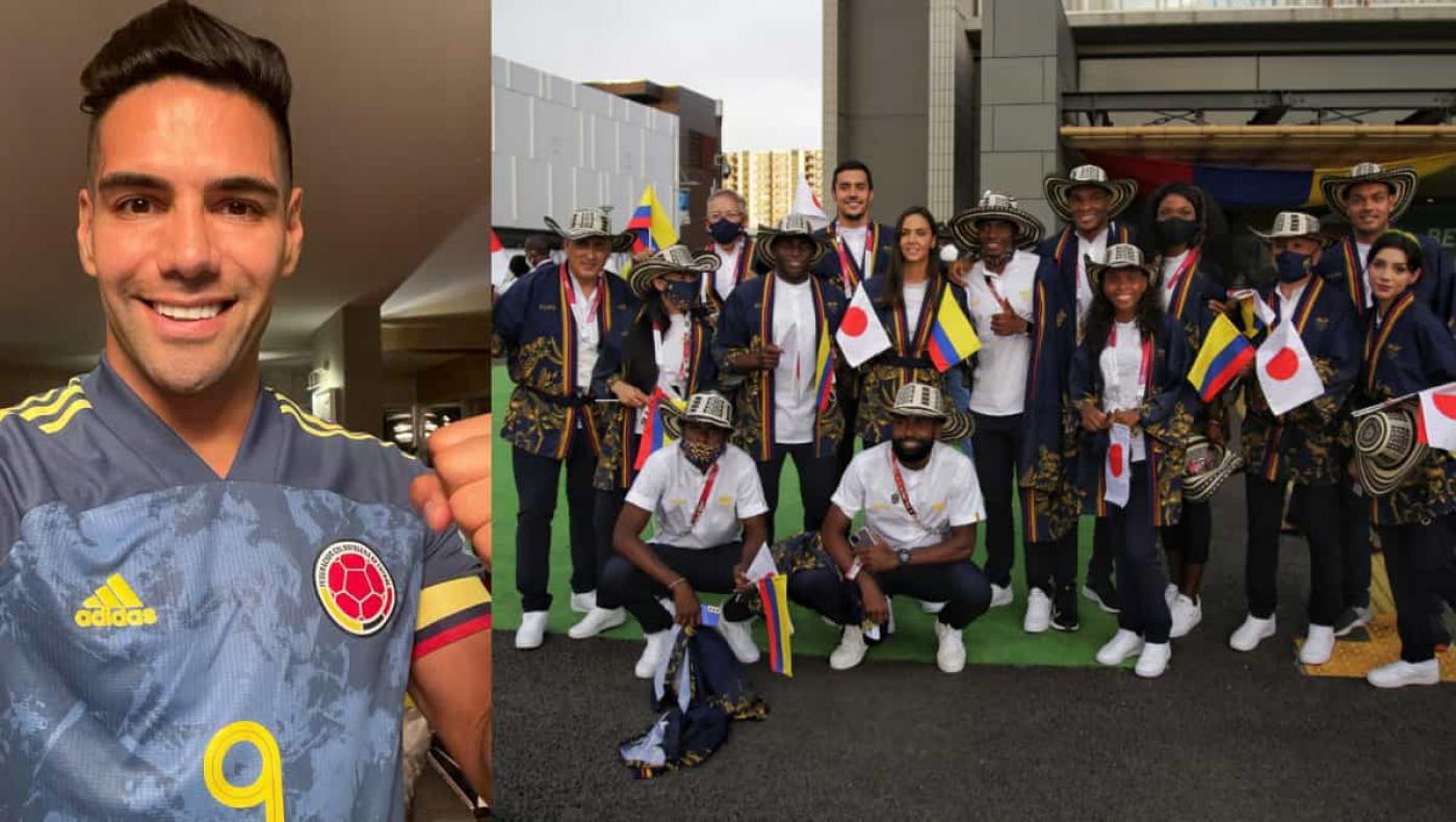 La emoción de Falcao con la delegación colombiana en Tokio 2020