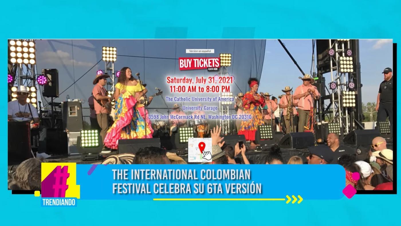 El próximo 31 de Julio disfrute del Festival Colombiano en Washington
