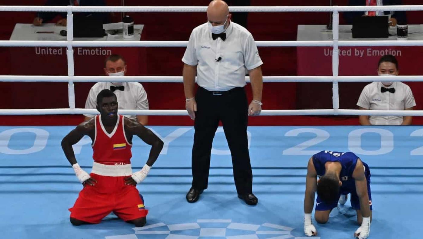 Técnico del equipo colombiano de boxeo explotó por la injusticia con Yuberjen Martínez