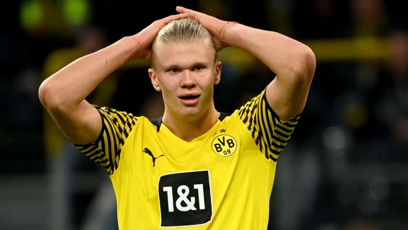 Haaland le dio malas noticias al Borussia Dortmund