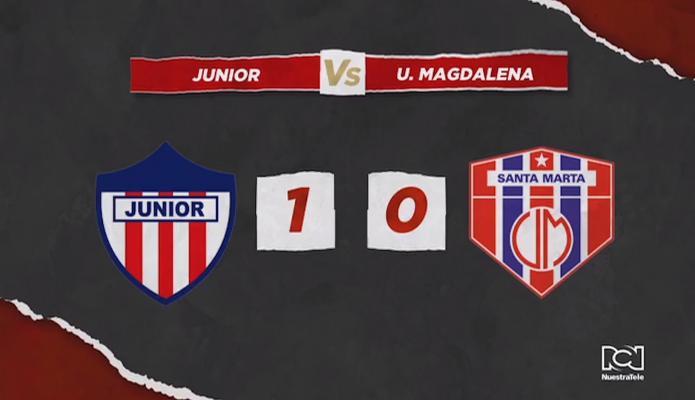 Con un gol agónico en el último minuto, Atlético Junior derrotó a Unión Magdalena
