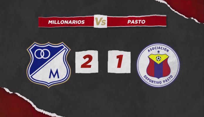 Millonarios regresó al triunfo con remontada ante Deportivo Pasto