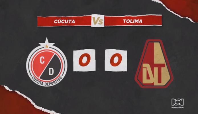 Deportes Tolima empató con Cúcuta Deportivo de visitante y se mantuvo como líder del cuadrangular A