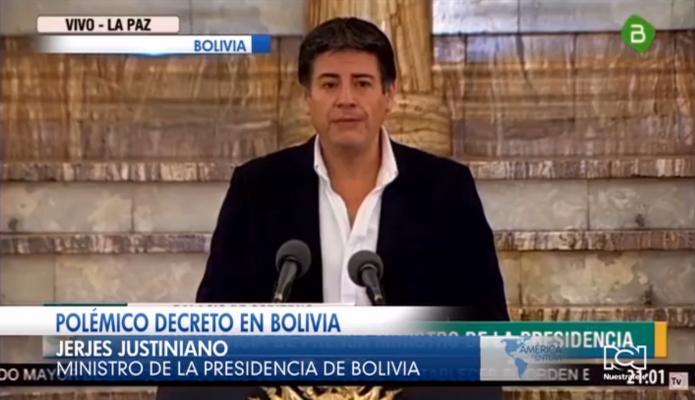 Polémica en Bolivia por decreto que exime de responsabilidad penal a los miembros de la fuerza pública que repriman las protestas